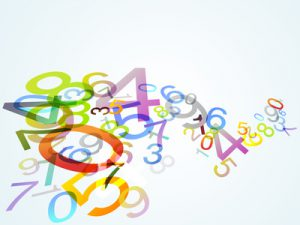 Monatsgedicht im Juli bunte Ziffern zum Thema Poesie und Mathematik