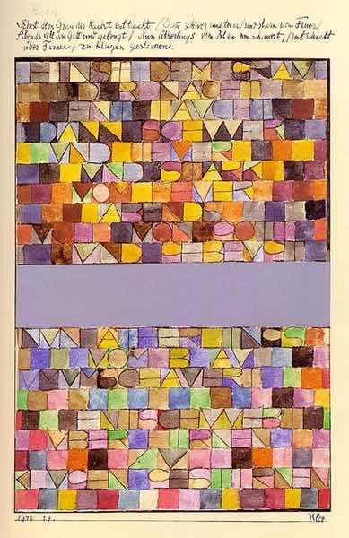 Cy Twombly und lepanto gewinnen beim Monatsgedicht Kunst und Skulptur. Das gezeigte Aquarell Paul Klees lud zum Wettbewerb ein.