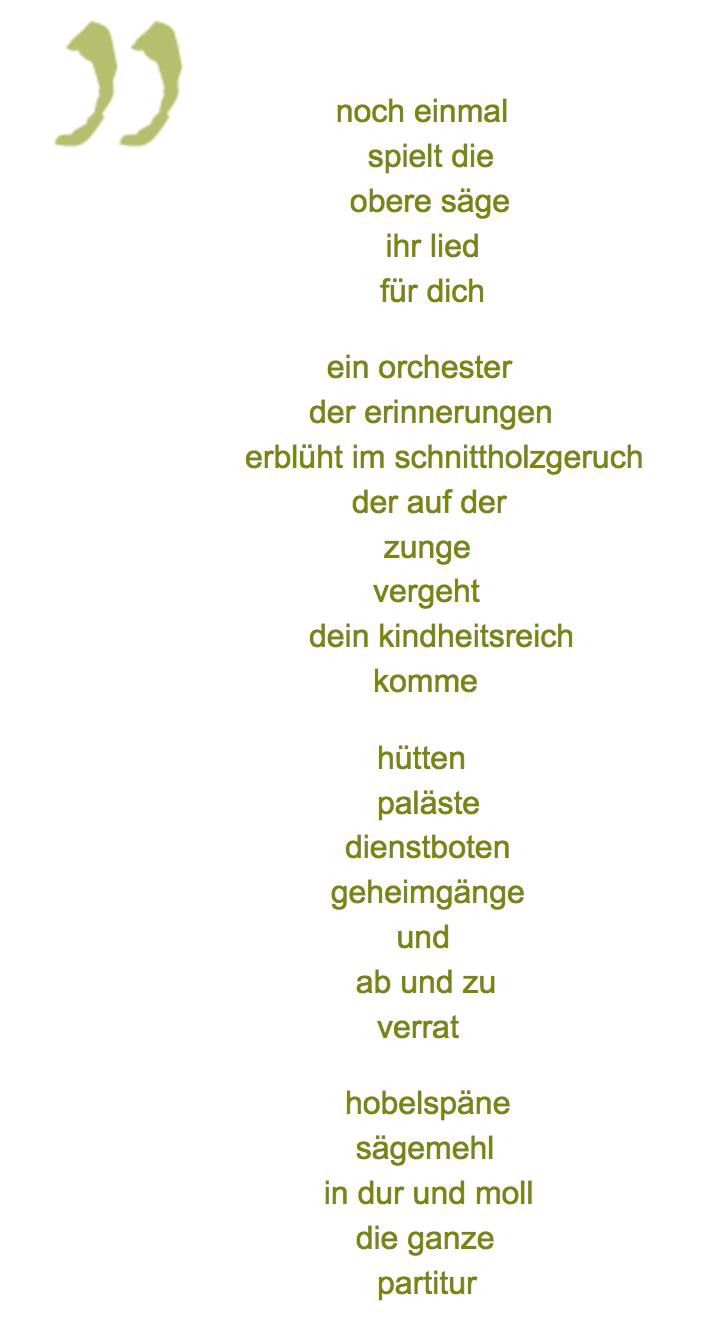 """Werner K. Bliß zentriert gesetzter gedichttext """"noch einmal"""""""