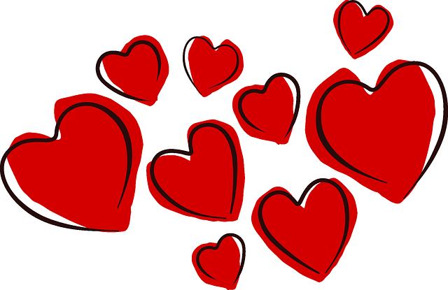 Als Liebessymbol rote Herzen - Schreibimpuls fuer ein Liebesgedicht | Unternehmen Lyrik